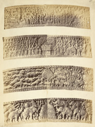 Sculptures on eastern torana or gateway, Sanchi Tope
